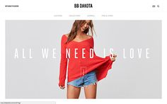 The BB Dakota site is not just a Fashion Design site, it gathers all the brands collections displayed in a user friendly and attractive way but also many blog articles with videos, image galleries and funny gifs about everything evolving around the fashion world. The site also alows the users to find all the products thanks to the customized store locator.
