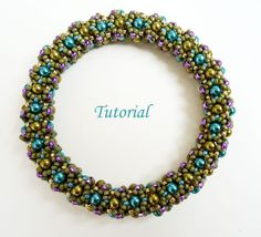 Tutorial Joyful netted bangle - Beading pattern bracelet PDF