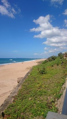 At end of promenade in Umhlanga. Durban in the distance Kwazulu Natal, Lighthouse, South Africa, Distance, October, Beach, Water, Holiday, Outdoor