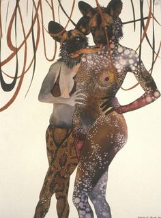 Kenyan-born, Brooklyn-based artist Wangechi Mutu's collages ebb and flow with beauty and horror. She cobbles together images of monstrous temptresses from sources as disparate as original pai… Kenyan Artists, African Artists, Museum Of Contemporary Art, Modern Art, Contemporary Artists, Contemporary Design, Collages, Art Du Collage, Kunst Online