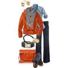 """Orange Blazer"" by simple-wardrobe on Polyvore"