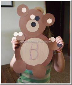 B is for Bear {Goldilocks and the 3 Bears}