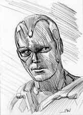 Vision Avengers ACEO Sketch Card by Jeff Ward #avengers #thevision #sketchcard #aceo