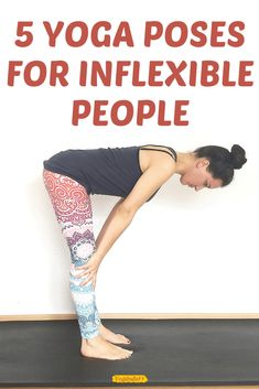 Do you think you're too inflexible to do yoga? These 5 yoga poses for inflexible people will prove you wrong! Do you think you're too inflexible to do yoga? These 5 yoga poses for inflexible people will prove you wrong! Fitness Workouts, Yoga Fitness, Fitness Senior, Fitness Workout For Women, Physical Fitness, Easy Fitness, Fitness Men, Fitness Logo, Fitness Fashion