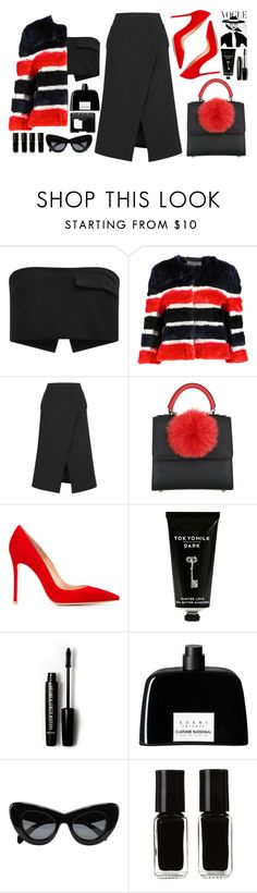 """""""PANELED FAUX"""" by mariimontero ❤ liked on Polyvore featuring Josh Goot, AINEA, Les Petits Joueurs, Gianvito Rossi, TokyoMilk, Forever 21, COSTUME NATIONAL, CÉLINE, The New Black and NARS Cosmetics"""