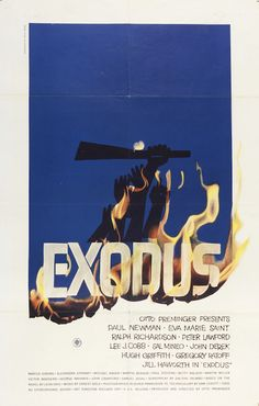 Saul Bass (American, 1920ñ1996). Exodus, 1961. Offset lithograph. Printed by National Screen Service Corporation (USA). 104 x 68.5 cm (40 15/16 x 26 15/16 in.). Gift of Sara and Marc Benda, 2010-21-16. Photo by Matt Flynn.