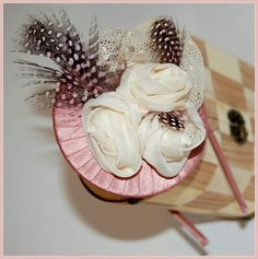 Tocado rosa Pink fascinator pilicose.blogspot.com.es