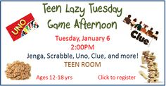 Teens, how about a nice lazy afternoon of games!