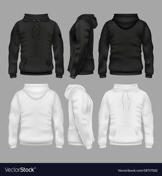 Black And White Blank Sweatshirt Hoodie throughout Blank Black Hoodie Template
