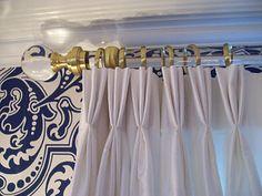 lucite drapery rods
