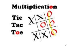 SMARTboard Tic Tac Toe  -  Two-Digit Multiplication