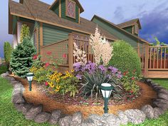 landscaping around patios photo | want your landscape to come to life at night using our landscape ...