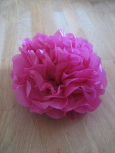 Flowers out of Tissue paper. I made this last night and lightly sprayed it with perfume.