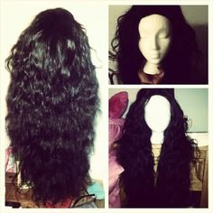 Finished product u-part wig with a lace closure. Virgin Brazilian wavy from Queen Virgin Remy, closure from LaceXclusive