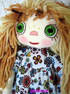 I used fabrics and threads and I created a cute doll. A Mable doll will be the favorite toy and the best friend for kid; -It will help to have a walk outside, to eat, to sleep -It will share with the kid all the hobbies and secrets! Sewing For Kids, Baby Sewing, Dolls For Sale, Doll Costume, Handmade Dolls, Cute Dolls, Antique Dolls, Hobbies, Fiber