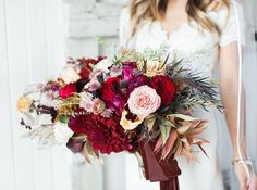 Stunning Autumn Bouquet by Oleander ~ dark reds, burgundy, purple, blush and gold bouquet by Oleander Gold Bouquet, Dahlia Bouquet, Fall Bouquets, Wedding Bouquets, Wedding Flowers, Perfect Wedding Dress, Dream Wedding Dresses, Designer Wedding Dresses, Wedding Pins