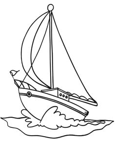 Printable Boat Coloring Pages from Boat Coloring Pages Printable. Coloring the boat will allow you to brighten up your leisure time with creativity and acquaintance with a small ship. On the pages of the section, the... #printable #coloringpages #coloring #coloringbook #coloriage Spring Coloring Pages, Coloring Pages To Print, Free Printable Coloring Pages, Free Coloring Pages, Coloring Books, Airplane Coloring Pages, Pirate Boats, Boat Drawing, Shape Templates