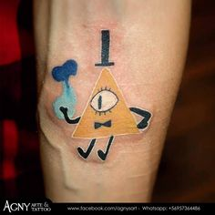 Bill Cipher - Gravity Falls :) #billcipher #gravityfalls #cartoon #iluminati #tattoo