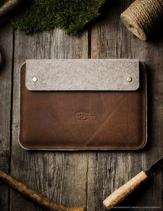 Leather MacBook Pro Air Case Brown front
