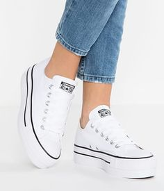 Converse Chuck Taylor All Star Lift Platform Sneaker - Shoes - Schuhe Platform Converse, Platform Shoes, Women's Converse, Converse Shoes Outfit, White Converse, Chuck Taylors, Zapatillas All Star, Cute Shoes, Designer Shoes