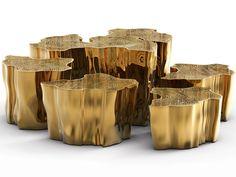 Eden Series Center Table by Boca do Lobo #goldcoffeetable coffee table design #moderncoffeetable modern design #luxurydesign living room . See more at www.coffeeandsidetables.com