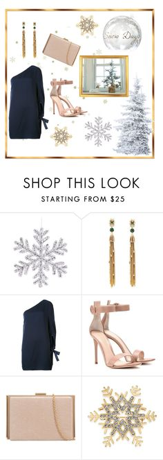 """Work Christmas Party"" by miracle-child-1 ❤ liked on Polyvore featuring Alexis Bittar, Halston Heritage, Gianvito Rossi and Charter Club"