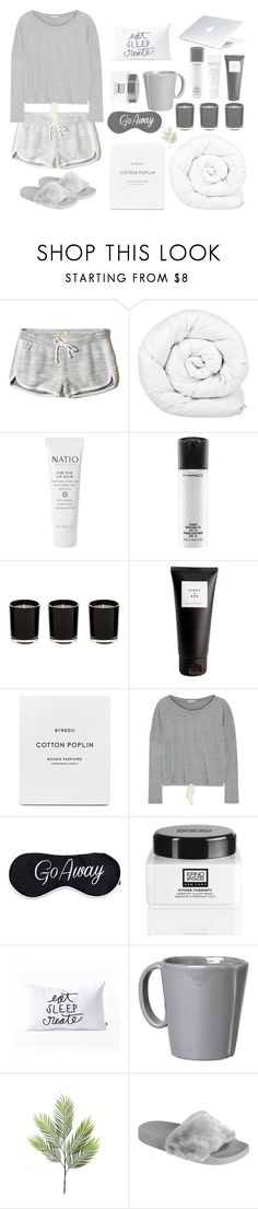 """""""Have a nice dream"""" by shaikha-s ❤ liked on Polyvore featuring Hollister Co., Brinkhaus, Natio, MAC Cosmetics, Eight & Bob, Eberjey, Erno Laszlo, DENY Designs, Vietri and Dyson"""