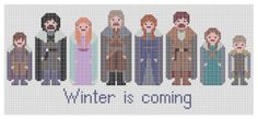 Game of Thrones Cross Stitch Pattern The Starks by XStitchMyHeart