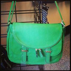 Grenn Crossover Bag www.LesliesHandbags.Net