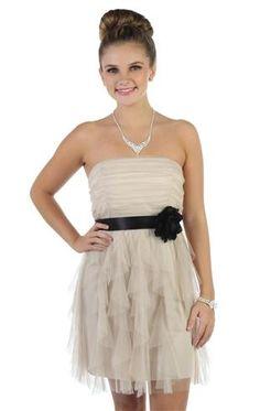 strapless short dress by flirt p5434