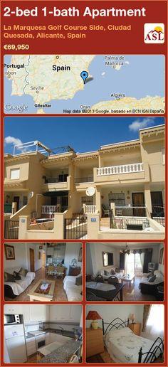 2-bed 1-bath Apartment in La Marquesa Golf Course Side, Ciudad Quesada, Alicante, Spain ►€69,950 #PropertyForSaleInSpain