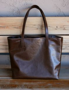 Come check out the fabulous leather tote I made and enter the giveaway to win some leather of your own!