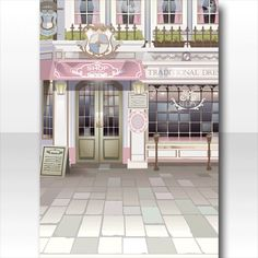 @trade | ロマンチックな街並みにドキドキ♪のアイテム一覧 Background Drawing, Background Ideas, Character Art, Character Design, Cocoppa Play, Exterior, Deviantart, Traditional, Mirror