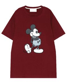 Mickey Mouse Printed Cotton T-shirt