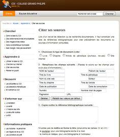 Intégrer un éditeur de bibliographie à E-sidoc (ou Netvibes, le blog du CDI,etc.)