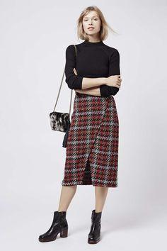 Photo 3 of Check Wrap Midi Skirt