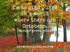 My favorite month!