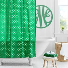 Dottie Shower Curtain // playful polka dots add cheer to your bathroom!