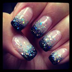 glitter nail ideas - Google Search