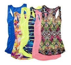 Polish off your look with our delicate jersey knit tank tops, featuring a pretty print design.