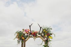 Epic floral arbour with antlers