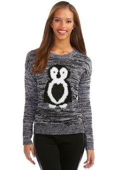 Cato Fashions Fuzzy Penguin Marled Sweater #CatoFashions