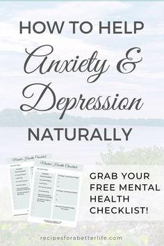 This short, simple, yet comprehensive checklist of tasks and mental exercises will keep your mind sharpened and pointed in the direction of happiness if you have anxiety or depression and want to retrain your mind to help it naturally without medication! Depression And Relationships, Free Mental Health, Mental Health And Wellbeing, Anxiety Help, Social Anxiety, Healthy Life, Healthy Living, Living With Depression