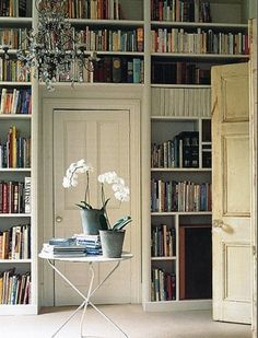 books on shelves - MY FRENCH COUNTRY HOME