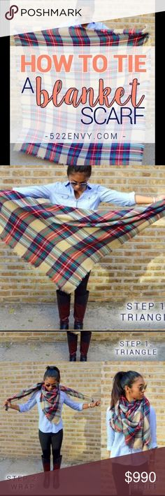 How to wear a blanket scarf: classic blanket edition! Check out other great ways… How to wear a blanket scarf: How To Wear A Blanket Scarf, Plaid Blanket Scarf, Tie A Scarf, How To Wear Belts, How To Wear Scarves, Fall Winter Outfits, Autumn Winter Fashion, Mode Outfits, Casual Outfits