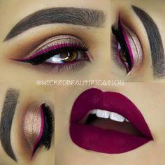 This makeup look and lip color is everything ❤️ cc: MUA @wickedbeautification #iluvyourhair #ilyh #beat #mua #beautiful #makeup #fierce #skin #eyes #lips #face #eyeliner #glam #iluvmakeup #cosmetology #lashes #makeuplove #pretty #mac #sephora #makeuplove