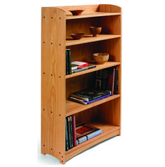 [Click for full-size]  Watch the eight-part video series for details on building this oak bookcase.