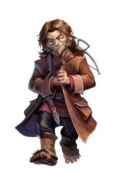 Male Halfling Rogue - Pathfinder PFRPG DND D&D d20 fantasy