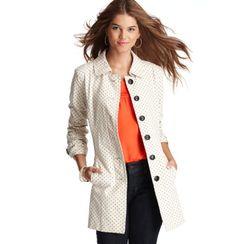 Star Print Cotton Trench Coat