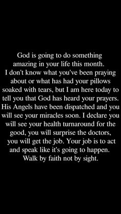 I have faith my miracles will happen soon. God Prayer, Prayer Quotes, Bible Verses Quotes, Faith Quotes, Spiritual Quotes, Positive Quotes, Wisdom Quotes, Scriptures, The Words